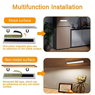 2PCS USB Rechargeable Light Wireless Motion Sensor Stairs Wall Kitchen Home Lamp
