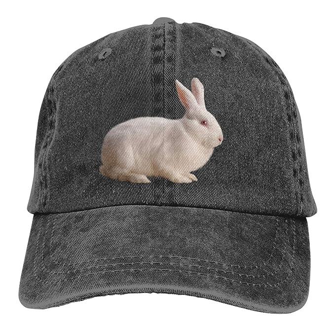 a6e8ed932c918 White Bunny Rabbit Printing Adjustable Baseball Cap Hats for Men Women  Adult at Amazon Men s Clothing store