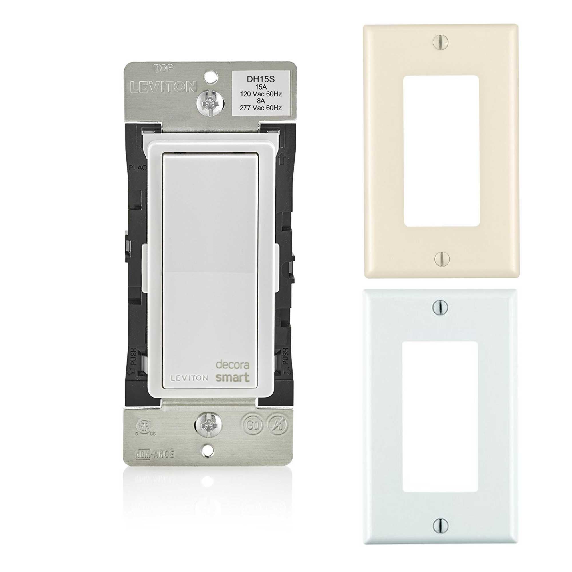 Leviton Decora Smart Light Switch With HomeKit Technology W/Almond & White Wallplates