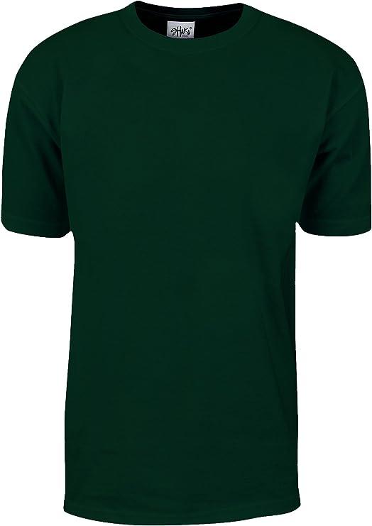 Shaka Wear Camiseta de manga corta de algodón para hombre 3X Cazador verde: Amazon.es: Ropa y accesorios