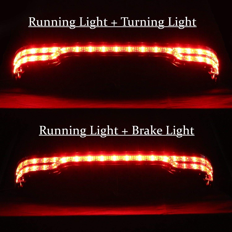 Areyourshop kit di luci LED King Tour-Pak per fanale freno//freccia//coda per Street Glide 14-UP