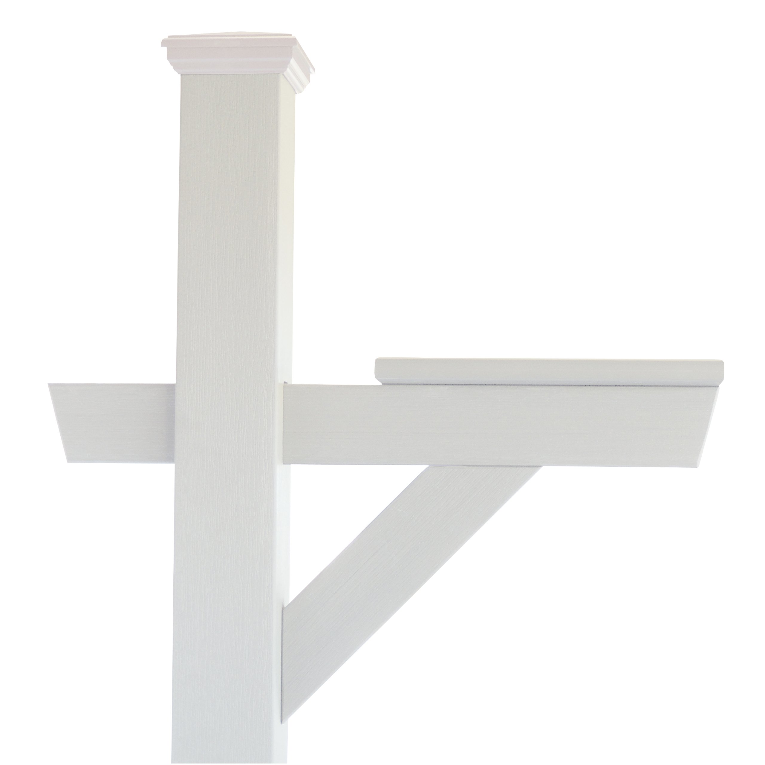 Highwood Hazleton Mailbox Post, White