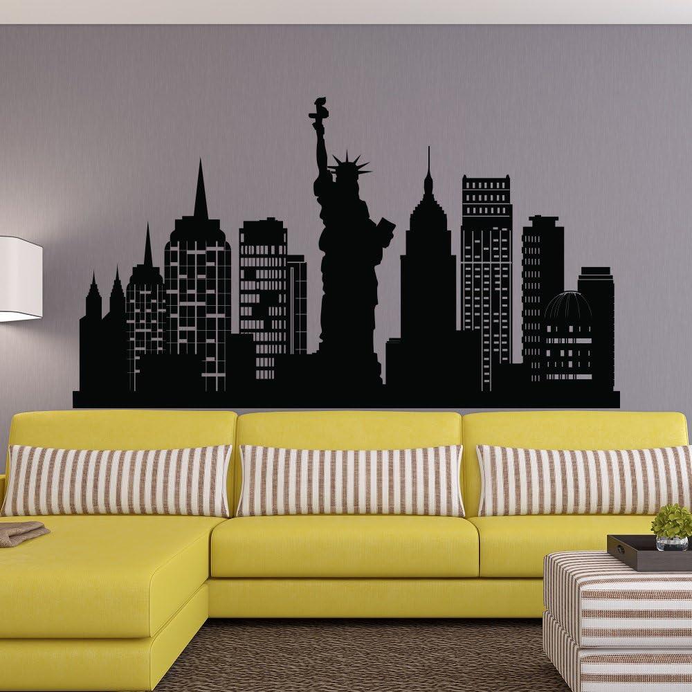 New York Wall Decal Statue Of Liberty Decals New York Sticker Bedroom Decor New York Skyline Decal Removable Sticker J678 City Skyline