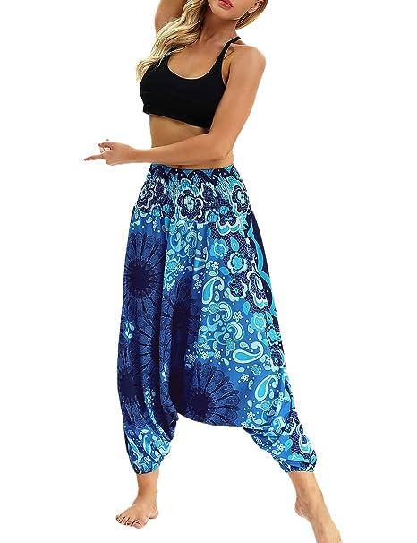 TAAMBAB Pantalones Yoga Transpirables Casuales Culottes ...