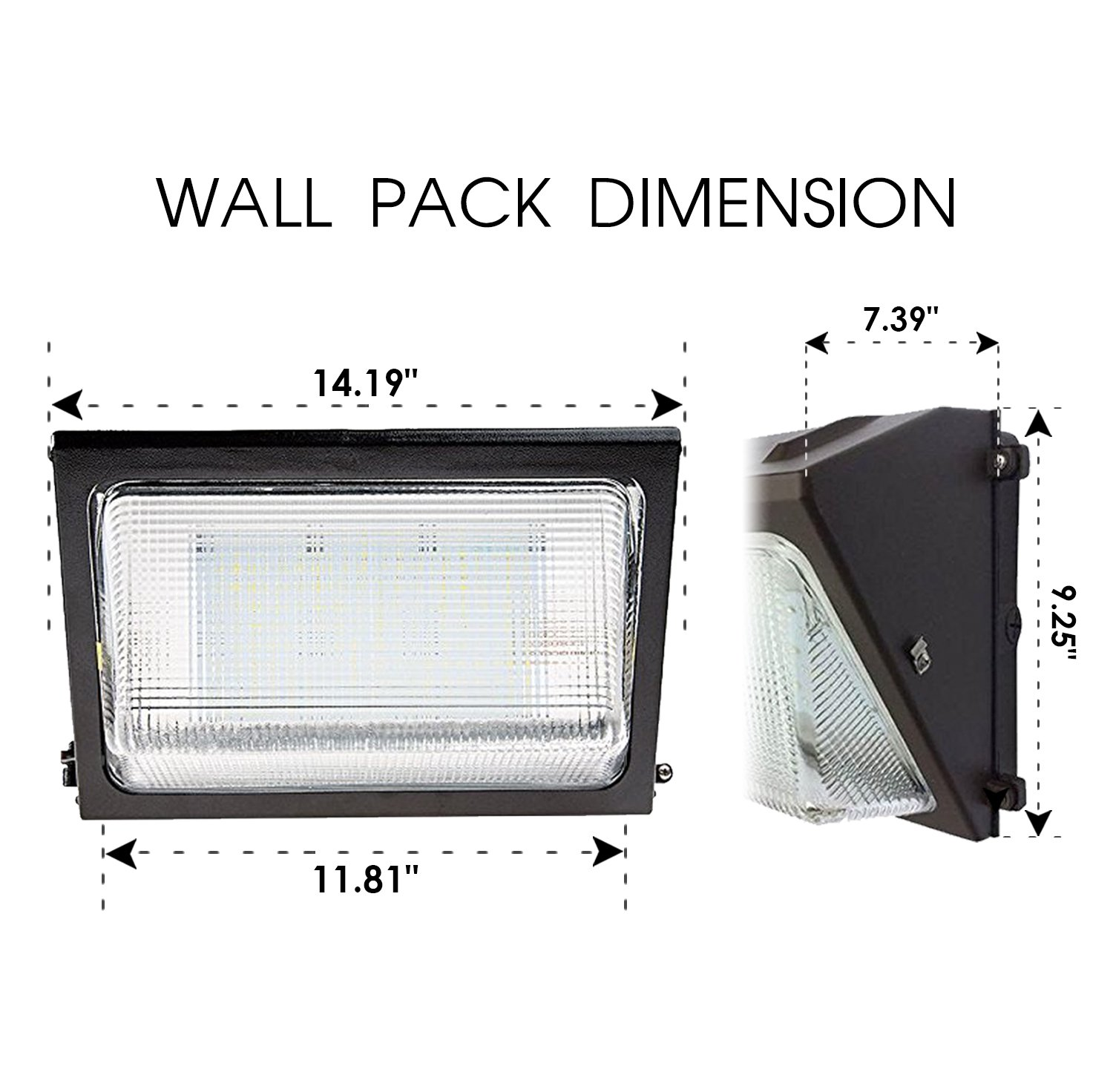 Ul Dlc Listed Led 80w Wall Pack Dimmable Outdoor Lighting