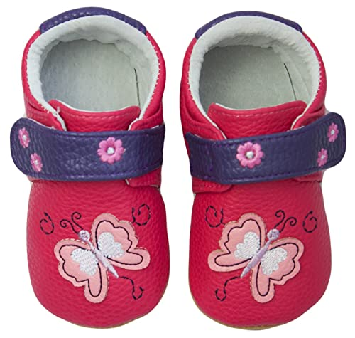 bfd2b7acfe16a Rose   Chocolat Chaussures Bébé Butterfly Violet Taille 17 18 cm ...