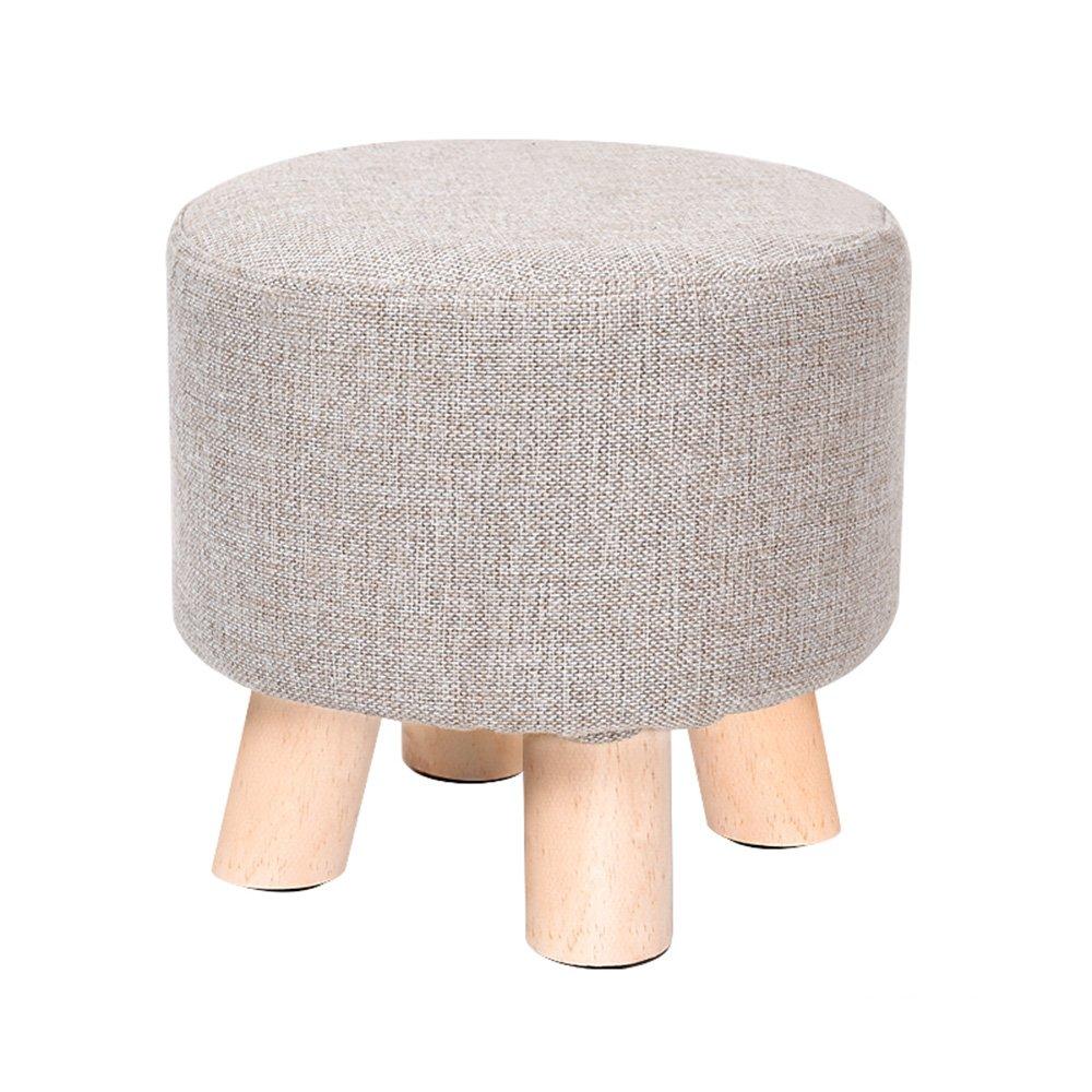 Xin-stool La Madera sólida para el Taburete del Zapato/el Taburete bajo/el paño USA los taburetes/Taburete Creativo de la Manera/Taburete Redondo pequeño, Durable, Puede Lavar (Estilo : I)