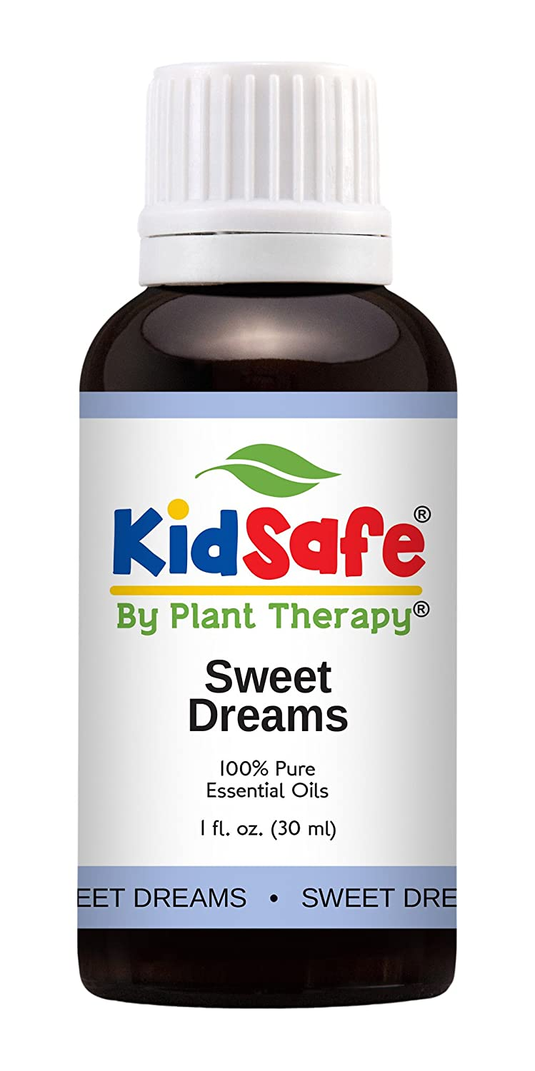 Plant Therapy KidSafe Sweet Dreams Synergy Pre-Diluted Essential Oil Roll-On. Ready to use! Blend of: Orange, Juniper, Coriander, Blue Tansy and Rose Absolute. 10 ml (1/3 oz). Plant Therapy Inc