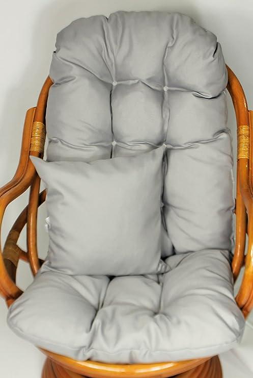 Ersatzpolster Gr Rattani Auflage//Polster f/ür Schaukelstuhl Nuevo Loneta beige Liegestuhl 130 x 50 x 12 cm Made in EU
