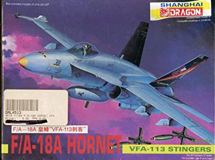 Amazon.com: DML Dragon 1:144 F/A-18A Hornet VFA-113 - Kit de ...