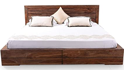 TG Furniture Solid Wood Queen Size Bed for Bed Room Wooden Wood Furniture  Bed Cots for Bedroom idle for Couples Husband Wife Children Family ...
