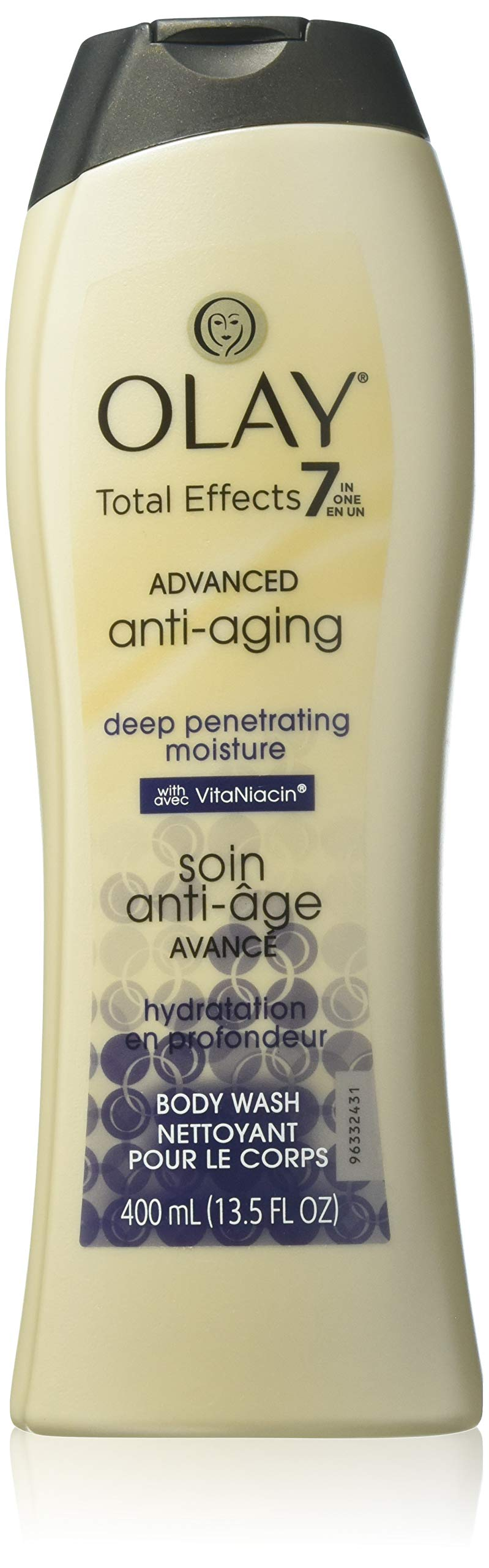 Olay Total Effects Advanced Anti-Aging, Deep Penetrating Moisture Body Wash with VitaNiacin for Younger-Looking Skin - 13.5 Fl Oz, Pack of 2 by Olay