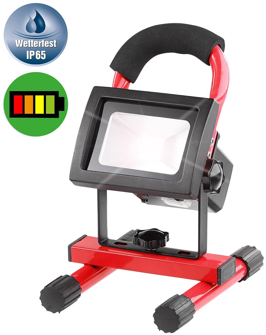 Luminea batería LED Foco: impermeable LED - Foco de baterías con ...