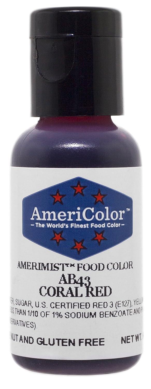 AmeriColor AmeriMist Coral Red Airbrush Food Color, .65 oz