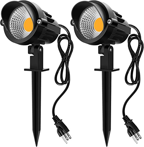 MEIKEE Landscape Lights 9W LED Landscape Lights IP66 Waterproof Outdoor COB Landscape Spotlight Pathway Light