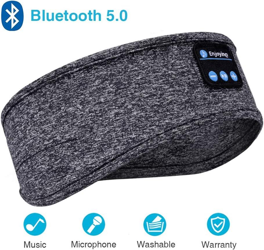 Sleep Headphones, Bluetooth Sleep Headphones,Headband Headphones with Built -in Speakers, Sports Headband with Bluetooth Headphones for Sleeping, Running, Yoga Grey
