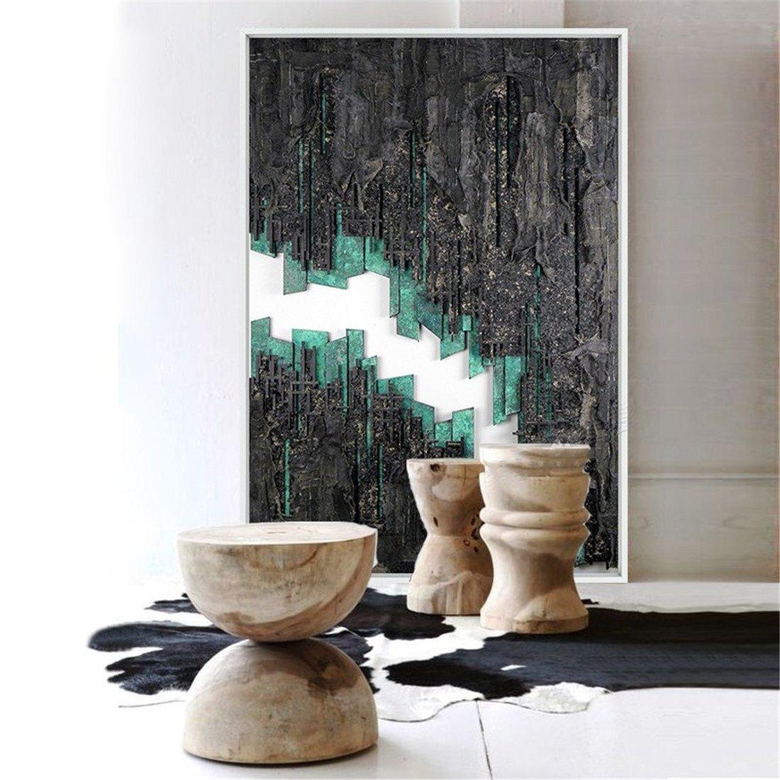 ¡no ser extrañado! YIZHANGEstilo Industrial Retro de Pintura Abstracta Abstracta Abstracta del Arte Que Pinta el Mural Creativo Mural de la Entrada del café (los 40  60cm)  los nuevos estilos calientes