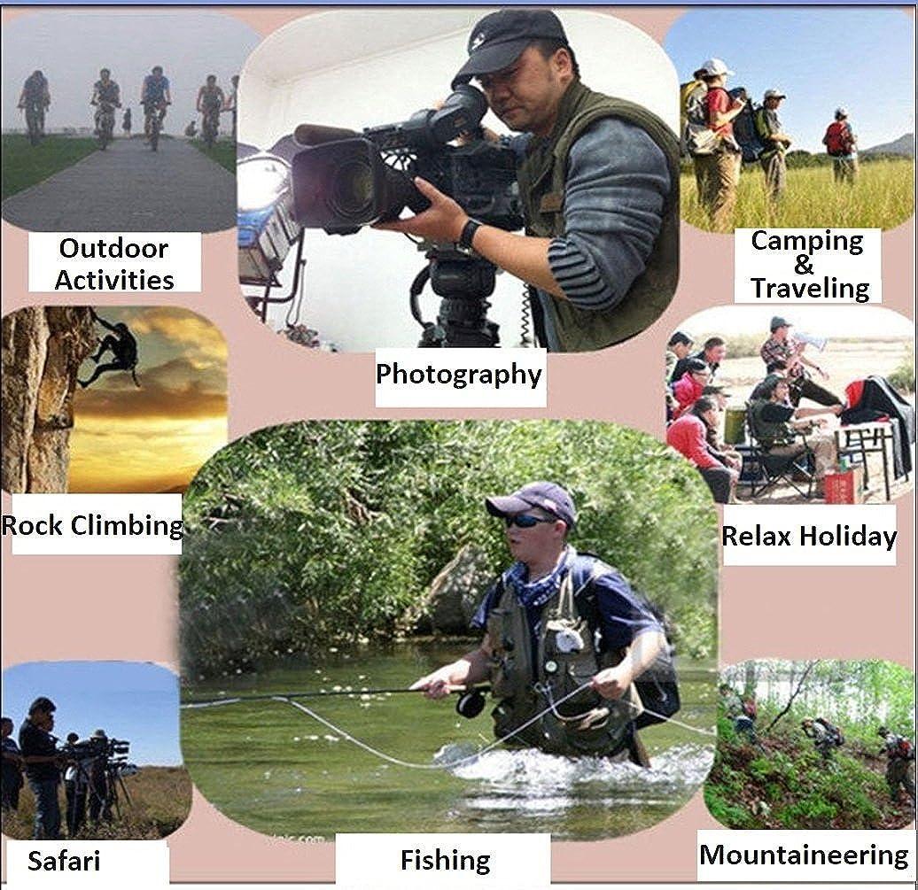TT Global Homme Plein Air Camouflage Gilet Maille Veste, Gilet de Pêche sans Manche pour Hommes Multi-Poches à La Mouche Photographie Veste à Séchage Rapide Style 8