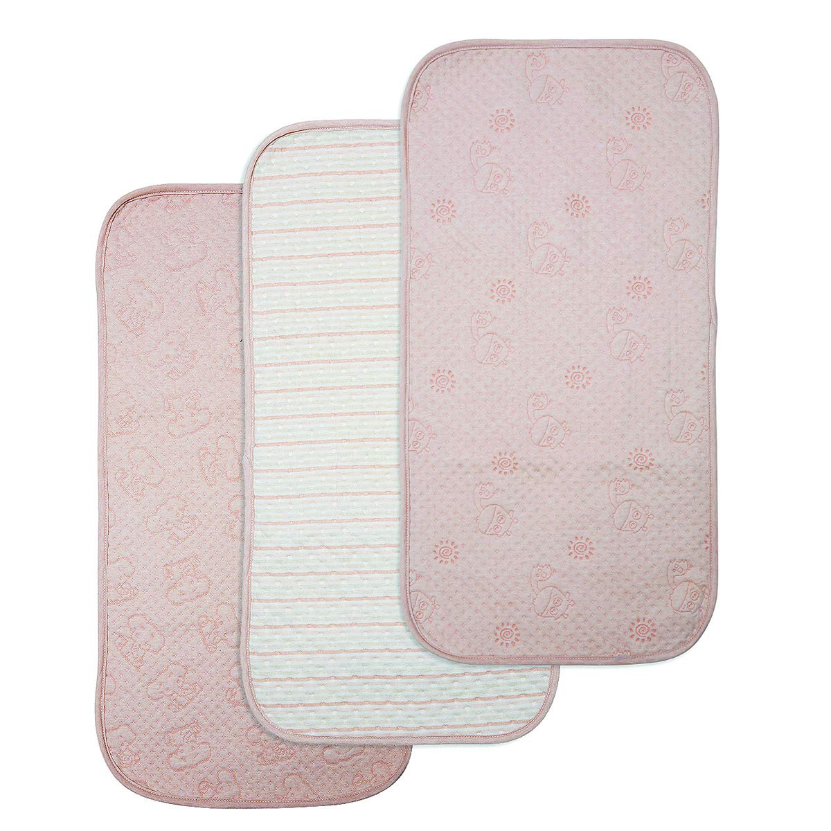 BlueSnail Organic Cotton Waterproof Changing Pad Liners 3PK, Super Absorbent and Ultra Soft.