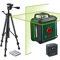 Bosch kruislijnlaser AdvancedLevel 360 set (horizontale 360°-laserlijn, twee verticale lijnen en loodpunt onder, groene…
