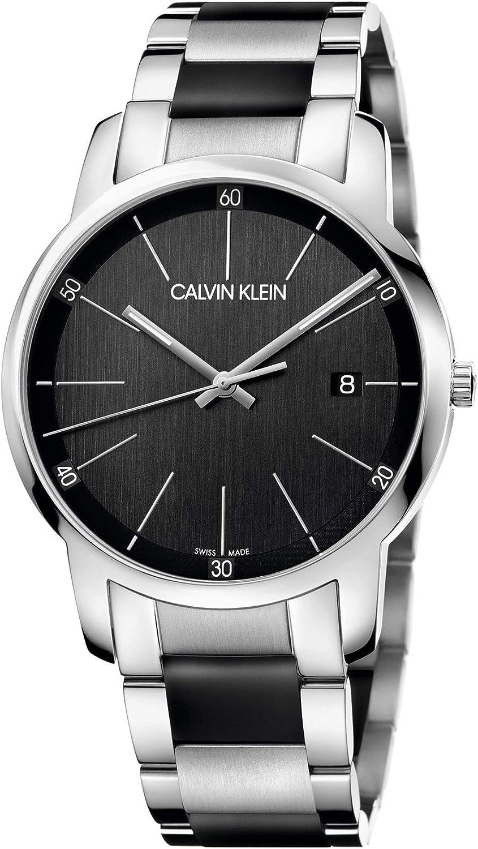 Calvin Klein Reloj Analógico-Digital para Unisex Adultos de Cuarzo con Correa en Acero Inoxidable K2G2G1B1