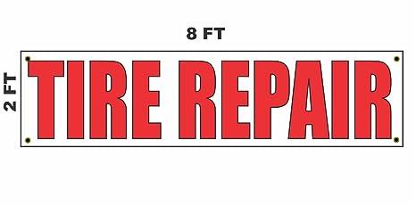 9a8154805 Amazon.com   2x8 TIRE Repair Banner Sign 24