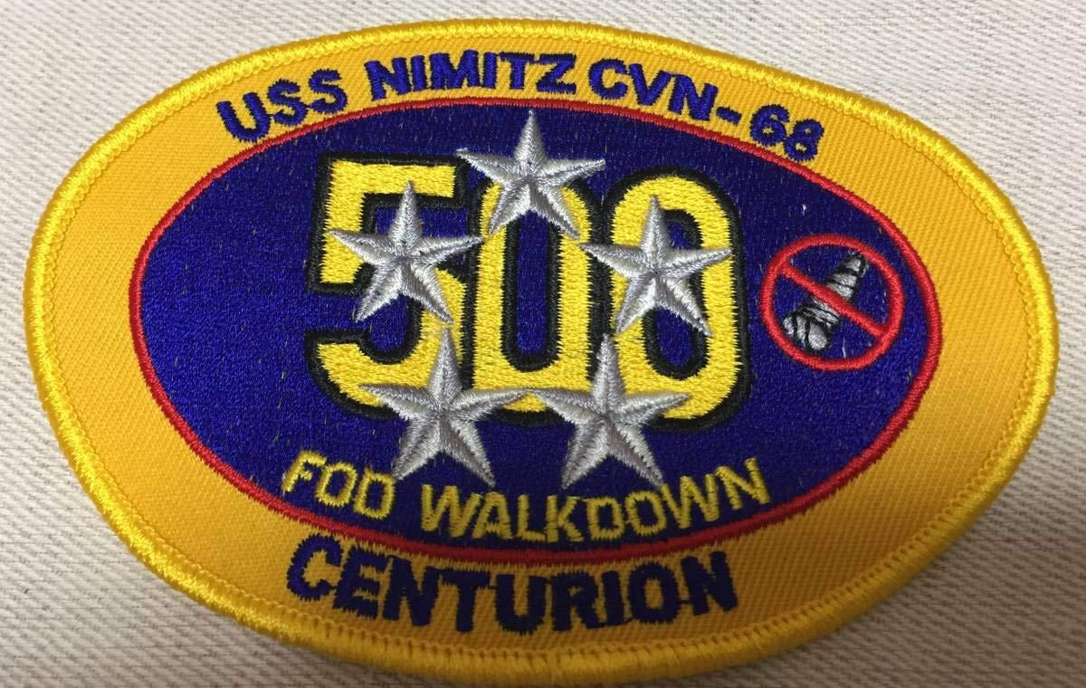 U.S Navy 米海軍 USS NiMitz CVN-68 着艦500回記念 ワッペン パッチ 205   B07NHZHQ8F