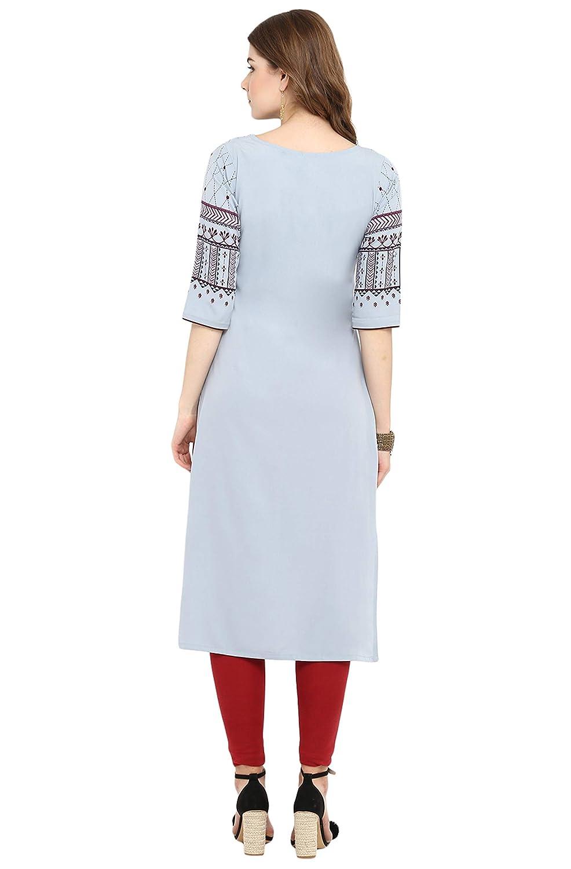 6bbd6b406df Janasya Indian Tunic Tops Crepe Kurti for Women at Amazon Women s Clothing  store