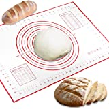 Conleke Silicone Pastry Mat for Pastry Rolling with Measurements, 15.7in x 23.6in Non-Slip Non-Stick Silicone Pastry Mat…