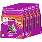 whiskas Cat Food Dry Adult Cat Food from 1year with Beef (5x 800g)