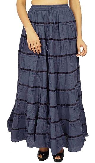 a5f40c2ebfc994 Femmes Mode Plage Hippie Indian Boho Gypsy Vêtements Jupe en ...