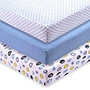 M&Y Fitted Crib Sheets (3-Pack), Boys, 52x28x9 in