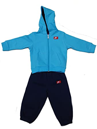 37c744e736d1 Nike Kids Boys Two Piece Top   Bottoms Hooded Cotton Navy Tracksuit 6  Months +  Amazon.co.uk  Clothing