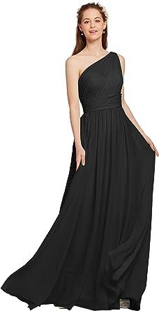 AW BRIDAL Chiffon Bridesmaid Dress for Women One Shoulder ...