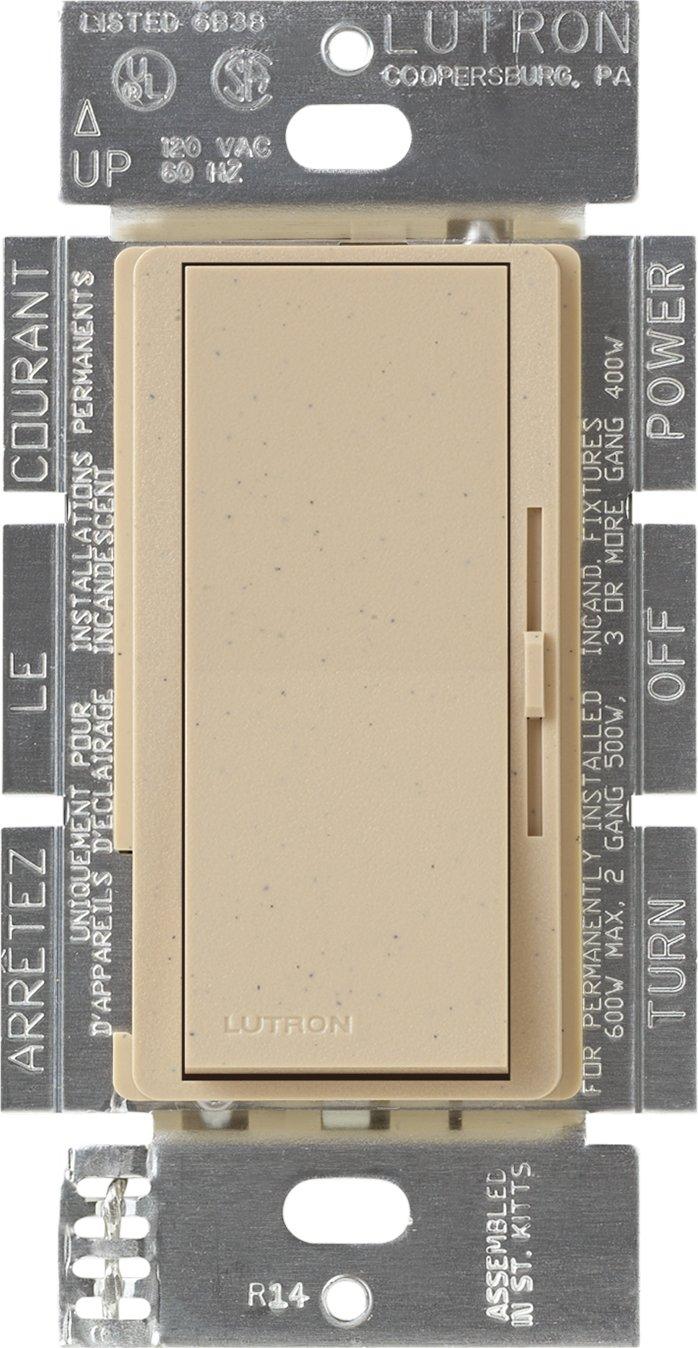 Lutron DVSC-103P-DS Diva 1000-watt 3-Way Dimmer, Desert Stone