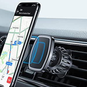 LISEN Phone Holder Car, [Upgraded Clip] Magnetic Phone Mount [6 Strong Magnets] Car Phone Mount [Case Friendly] iPhone Car Holder Car Mount for iPhone Compatible with All Smartphone and Tablets