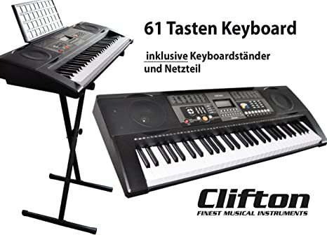 Teclado 61 teclas con soporte para teclado