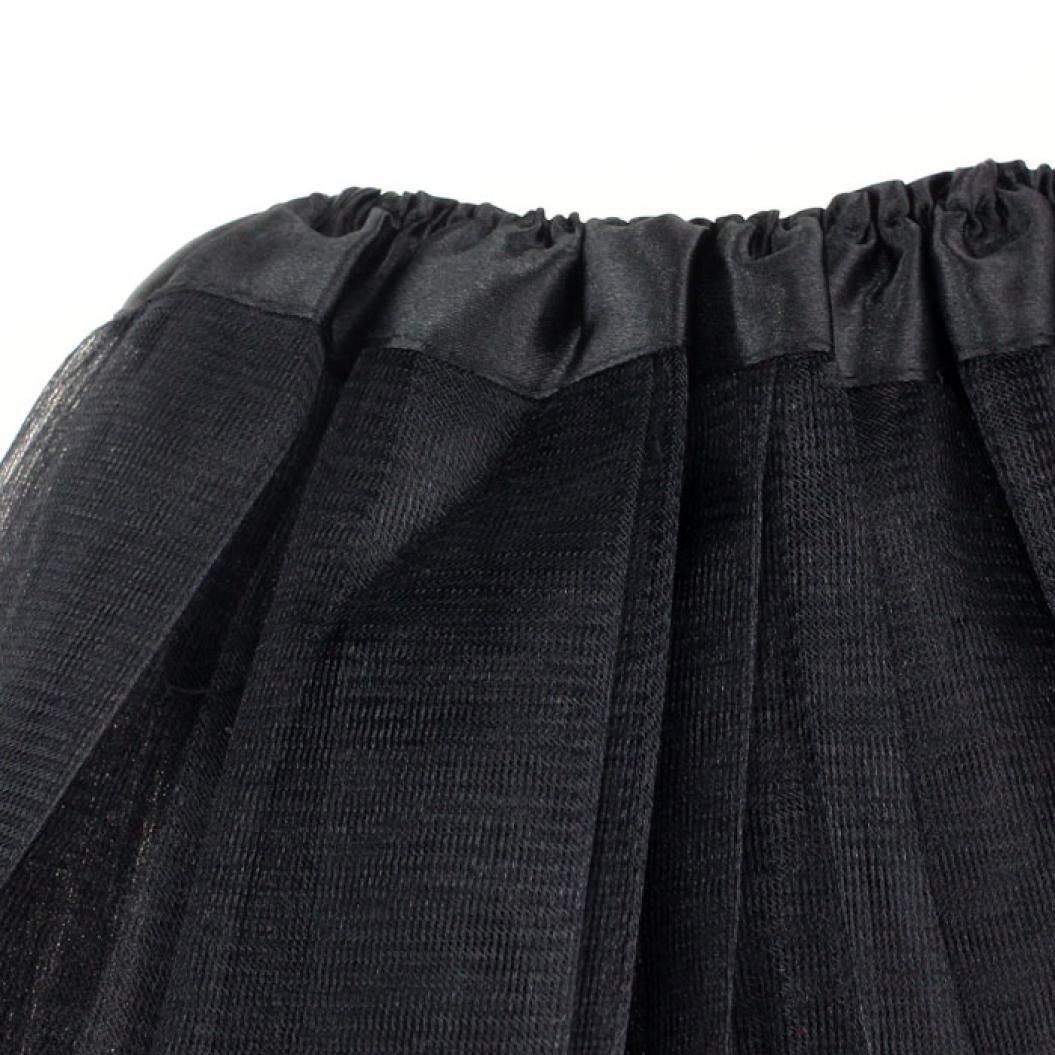 Oyedens Donne Danza Tutu Stratificati Organza Lace Minigonna Bella Ragazza Elastica Elastico Tulli Vestito Adulto Tutu 3 Layer Gonna