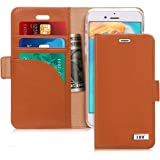 FYY [Genuine Leather] Case for iPhone 7 /iPhone 8, iPhone SE 2020 (4.7 inch) [RFID Blocking] [Kickstand] Flip Folio Wallet Ca