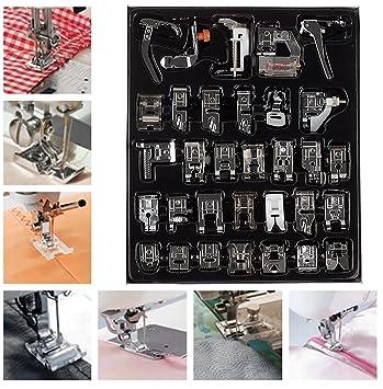 Kit de selección de prensatelas para máquina de coser. Juego de 32 pies para Janome Fratello Singer: Amazon.es: Hogar