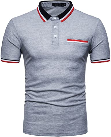 Cebbay Liquidación Polo de los Hombres Botón de Solapa Camiseta ...