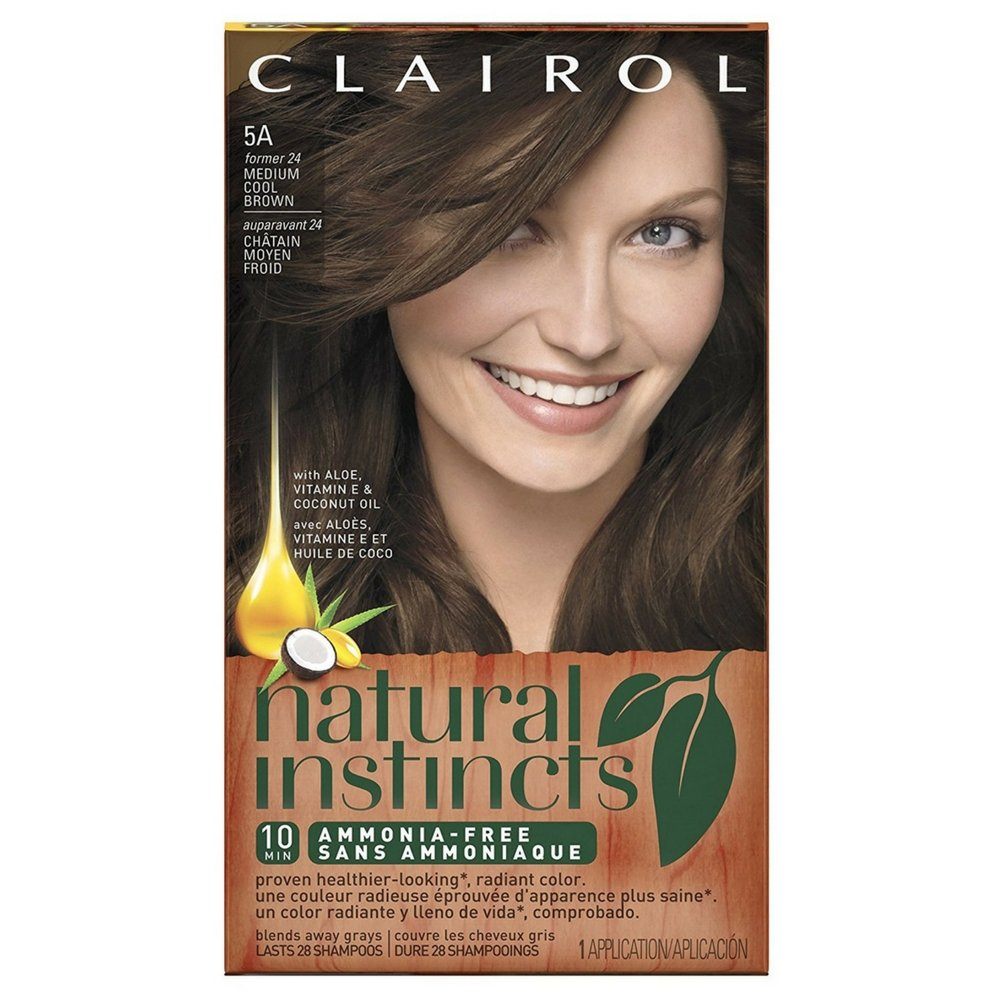 Natural Instincts #24 Size Kit Clairol Natural Instincts #24 Medium Ash Brown