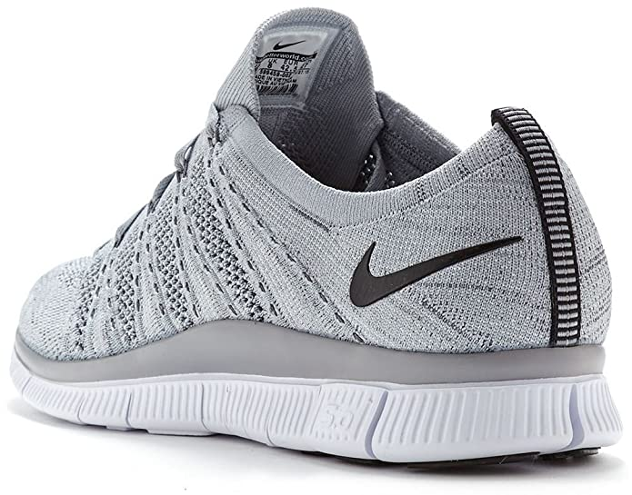 692fb3dc08cd Nike Free Flyknit NSW Running Trainers in Wolf   Dark Grey   White 599459  002  UK 11 EU 46   Amazon.co.uk  Shoes   Bags