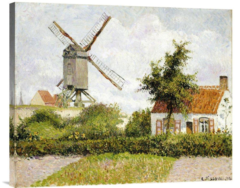 Global Galerie Budget gcs-265352–76,2–360,7 cm Camille Pissarro Windmühle bei Knock Belgien Galerie Wrap Giclée-Kunstdruck auf Leinwand Art Wand B01K1PU8Z0 | Komfort