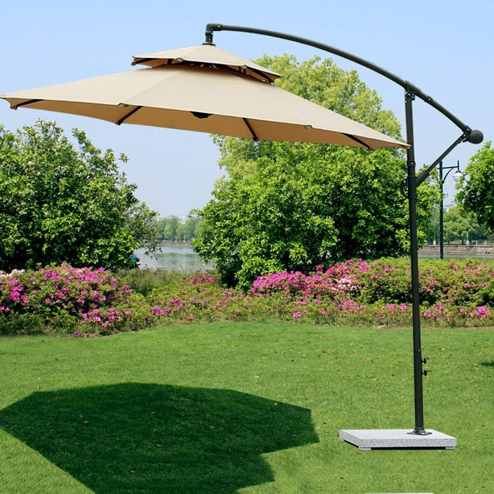 Parasol YXLZ Excéntrico ,Thicken Polyester Lona Jardín Enfriamiento Windproof Top Doble Design Sombrilla Reclinable,para Exterior, Jardín, Patio, Terraza: Amazon.es: Jardín