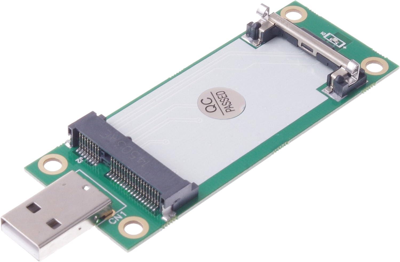 SMAKN® Mini PCI-E Wireless to USB Adapter Card with SIM Card Slot Test WWAN Module E0Xc Interno Unidad de Disco óptico