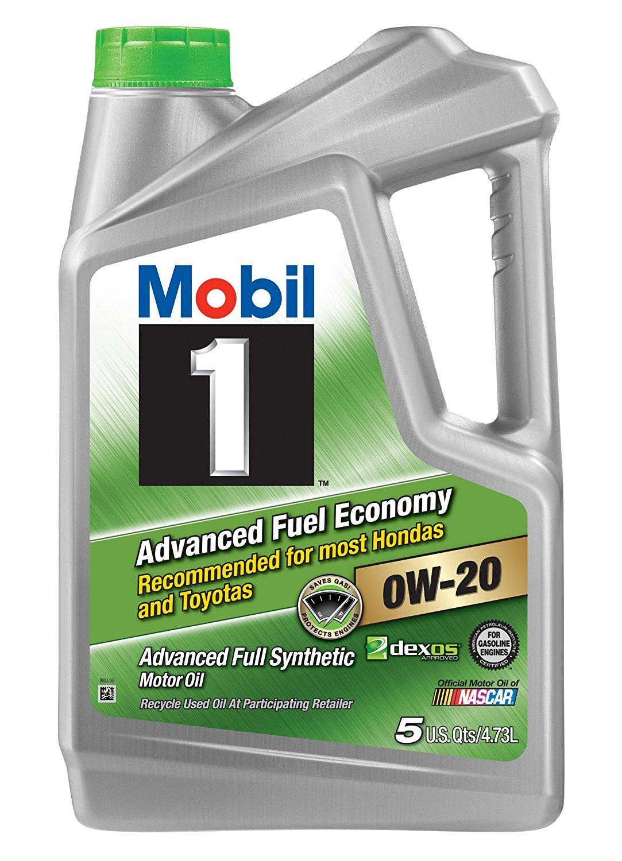 Mobil 1 120758 Advanced Full Synthetic Motor Oil for 0W-20 5, 4.73L-3 Pack