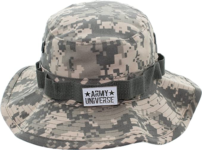 Army Universe ACU Digital Camouflage Tactical Boonie Bucket Hat with Pin  Size XX-Small 6 cfb9257521d