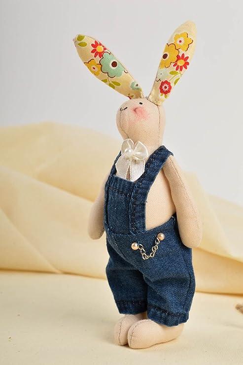Conejo de peluche hecho a mano juguete de tela regalo original para nino