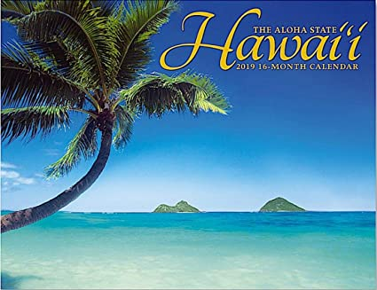 Calendario comercial Hawaii el estado de Aloha 2019 16 meses ...